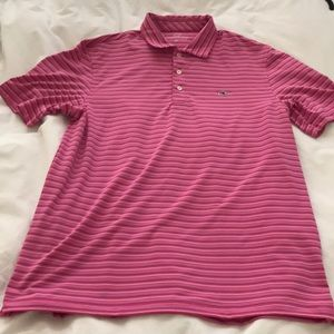 Vineyard vines striped golf polo